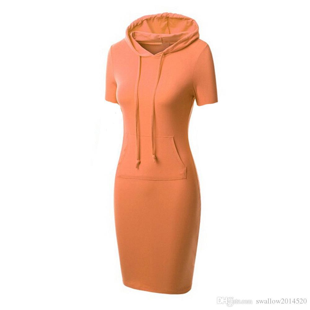Womens Autumn Winter Dress Bodycon Raglan Sleeve Hoodie Sweatshirt Dress Pullover with Kangaroo Pockets Casual Sexy Dress