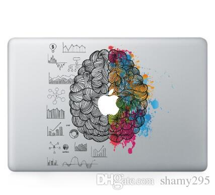 Laptop Vinyl Partial Decal DIY Personality Sticker Left&Right Brain Print Skin For Macbook Air Pro Retina Touch Bar