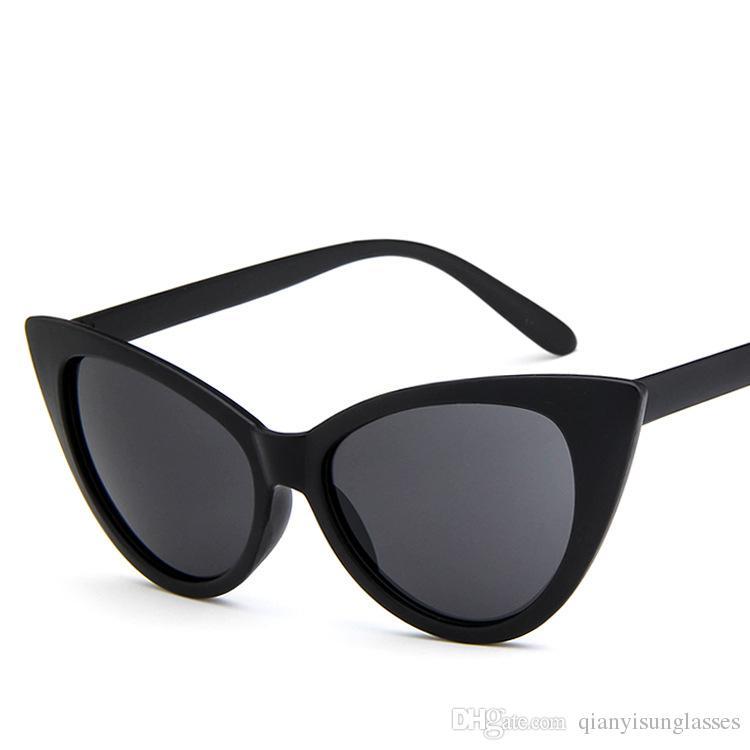 luxury cat eye sunglasses women brand designer retro vintage sun