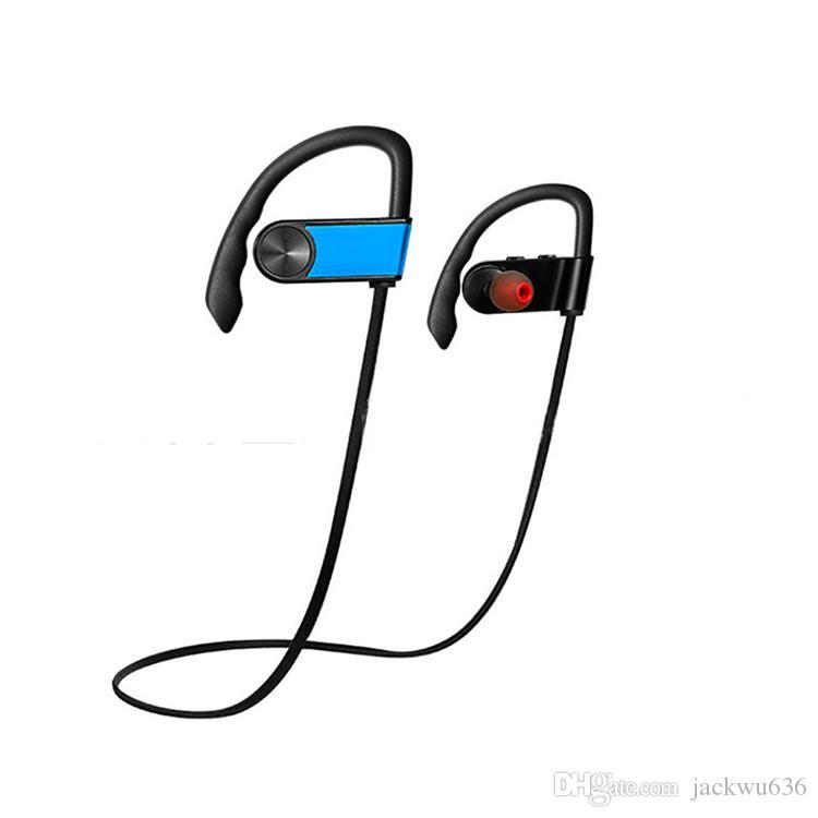블루투스 헤드폰 V4.1 무선 스테레오 블루투스 이어폰, iOS 용 안드로이드 이어 버드 용, 안드로이드 용 핸드폰 블루 - 무료 배송