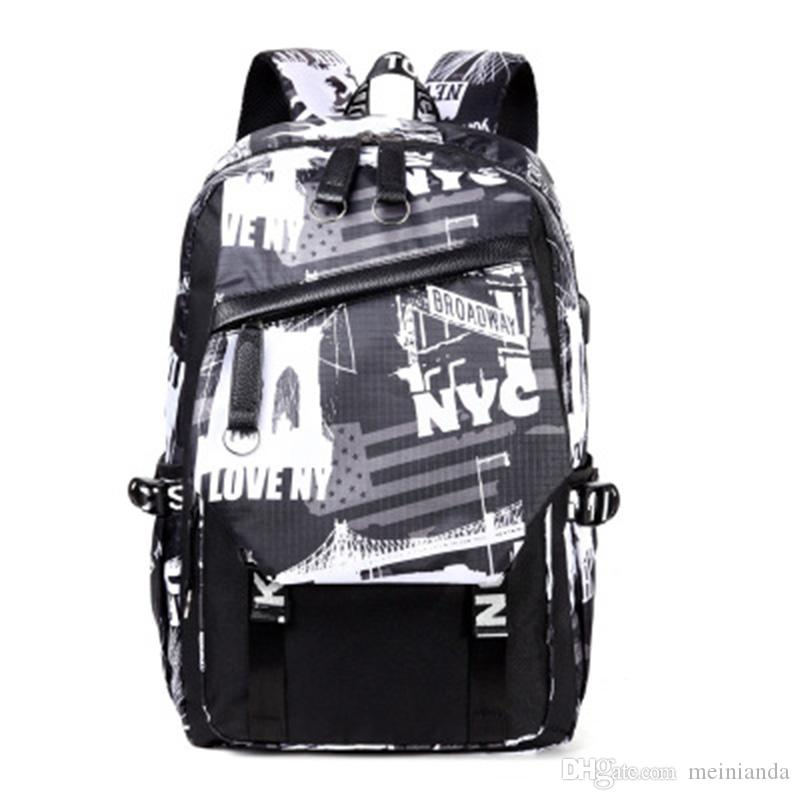 ae0614d7d4 Backpack Men And Women Korean Tide Backpack High School Junior High School  Students Schoolbag Computer Travel Outdoor Bag Computer Bag Backpack Men  And ...