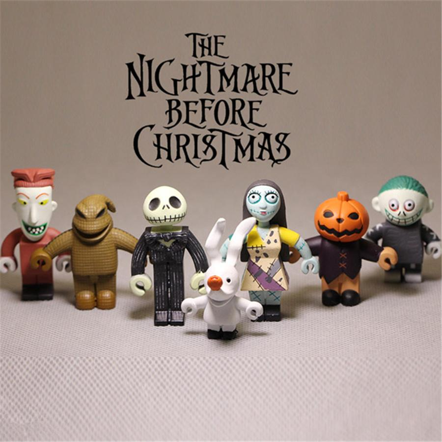 2018 5 7cm The Nightmare Before Christmas Jack Skellington Sally ...