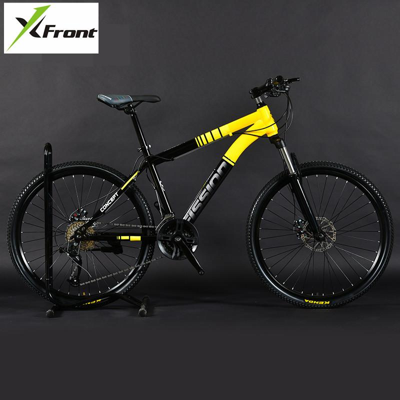 83b0a5fc1 New Brand Mountain Bike Carbon Steel frame 24 26 inch Wheel 27 30 Speed  Lockable fork Bicycle Dual Disc Brake MTB Bicicleta