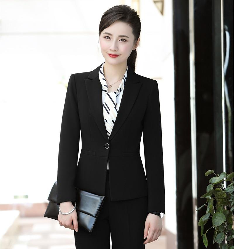 1d8e7399af9f 2019 New Style 2018 Formal Women Blazers And Jackets Black Ladies Work Wear  Business Female Office Uniform Designs From Houmian