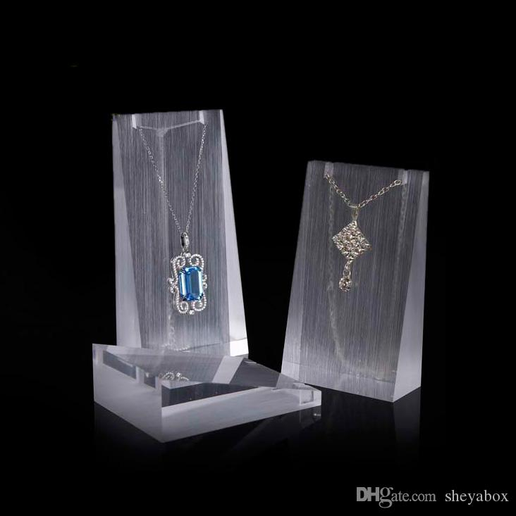 Exhibition Stand Jewelry : Acrylic jewelry necklace display stand prop delicate for