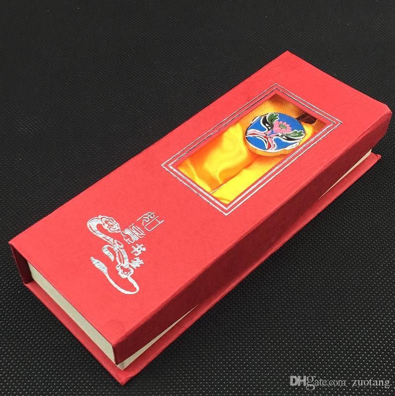 Vintage chinesische Oper Metall Lesezeichen Clip kreative Zink-Legierung Business Geschenk Lesezeichen mit Geschenk-Box