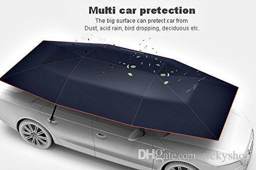 Semi-automatic Outdoor Portable Car Tent Umbrella UV Protection Sun Shade Cover