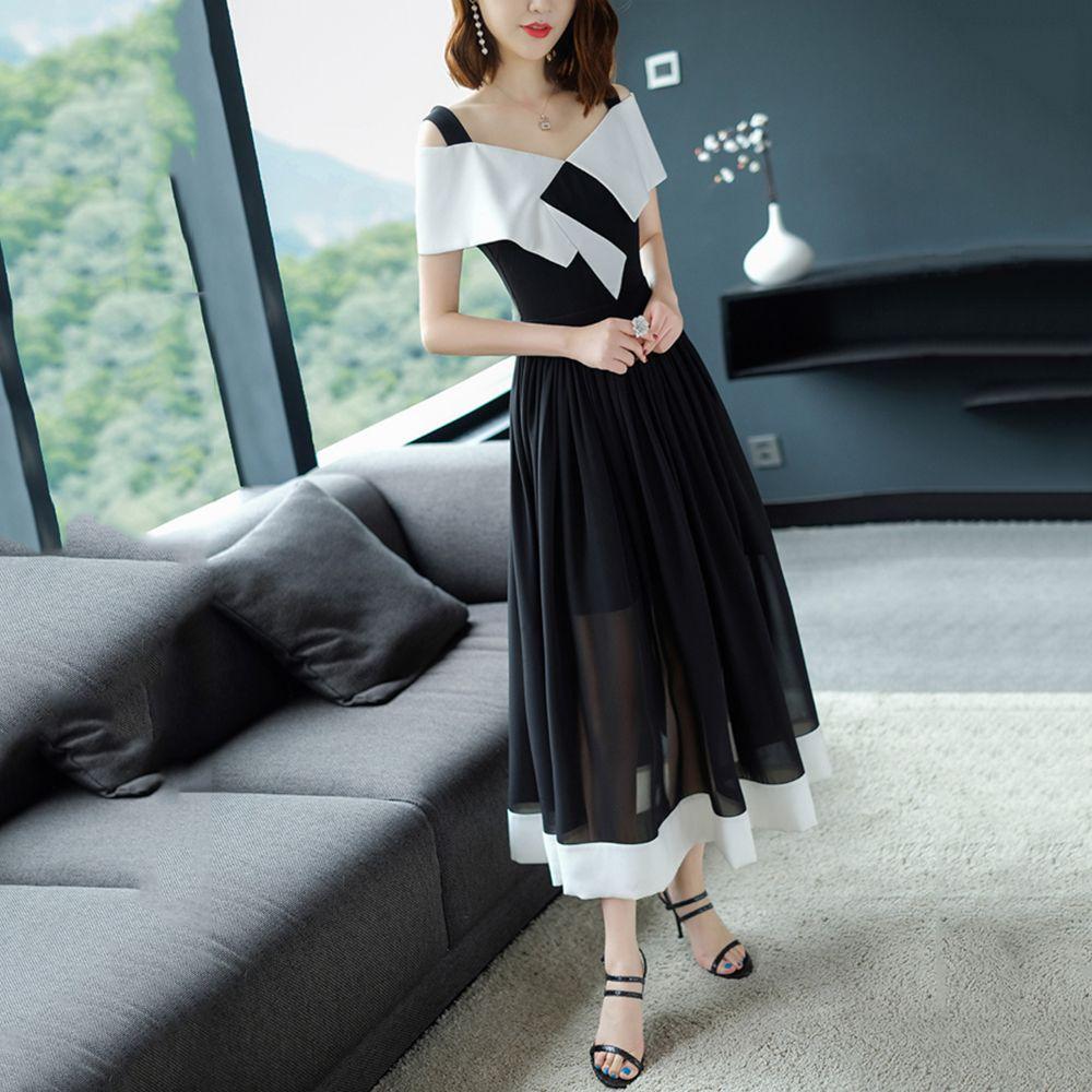 2019 2018 Long Maxi Summer Dress Maxi Dress Long Sleeve Long Formal Dress  Summer F2941 Strip Shoulder With Ruffle From Sarmit cba658412