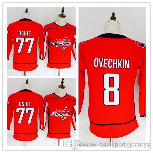 Cheap Women Youth 2018 Washington Capitals 8 Alex Ovechkin 77 T.J. Oshie 70  Braden Holtby Womens Kids Hockey 13978ee36