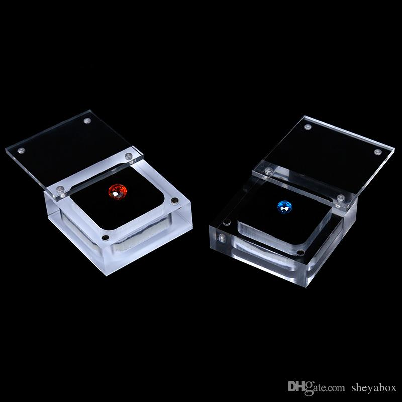 loose diamond beads display box with cover magnetic closure clear