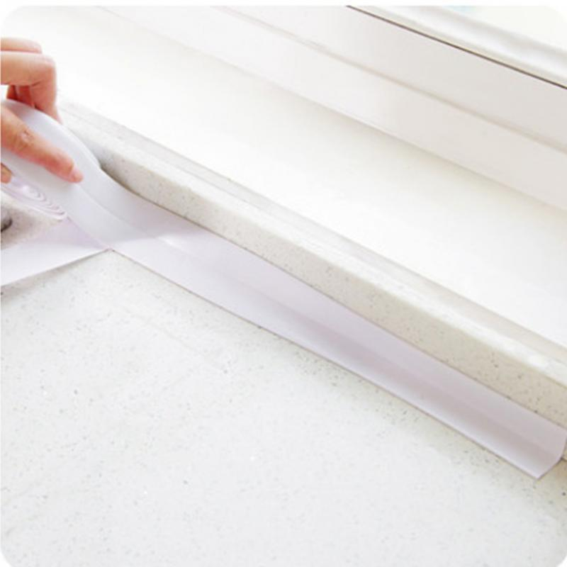 PVC Material Home Kitchen Bathroom Wall Sealing Tape Stickers Waterproof Mold Proof Wall Stickers 3.2mx3.8cm c641