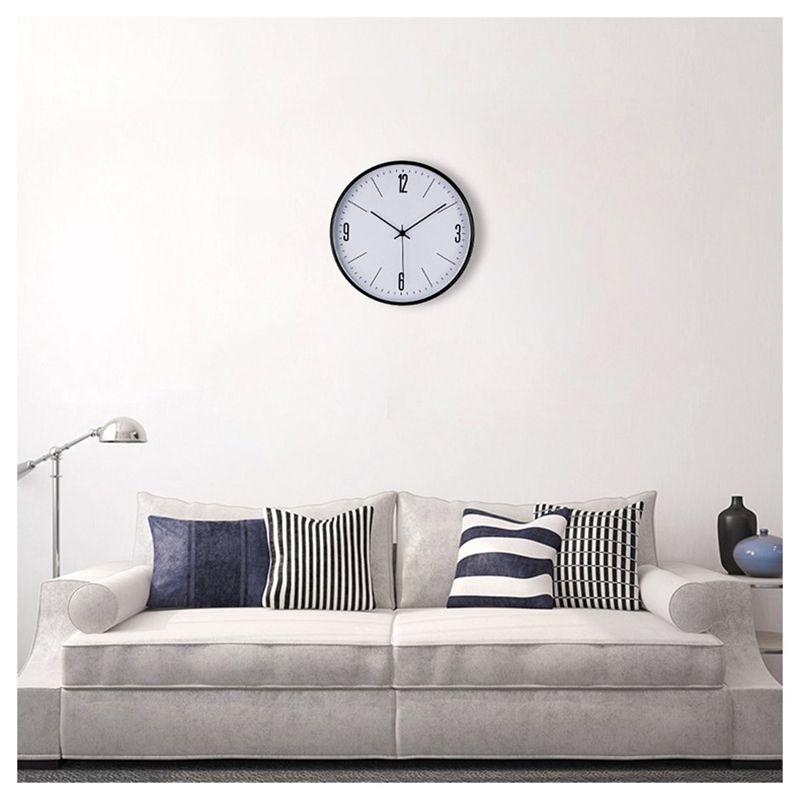 Acheter Horloge Murale Cercle Grand Bref Noir En Métal Cadre Bureau