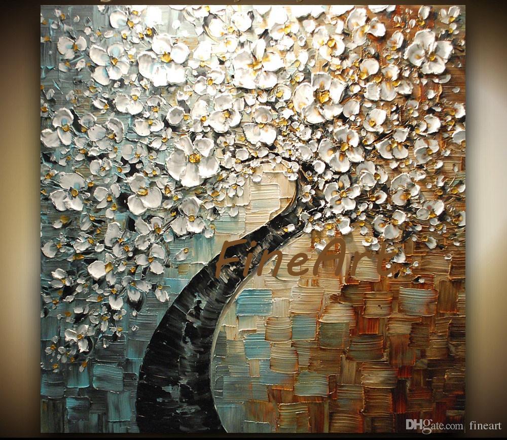 Großhandel Handgemalte Abstrakte Moderne Kunst Gemälde White Cherry