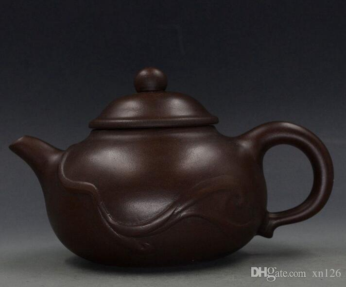 CHINESE YIXING ZISHA HANDMADE FINE STRIPES TEAPOT COLLECTION
