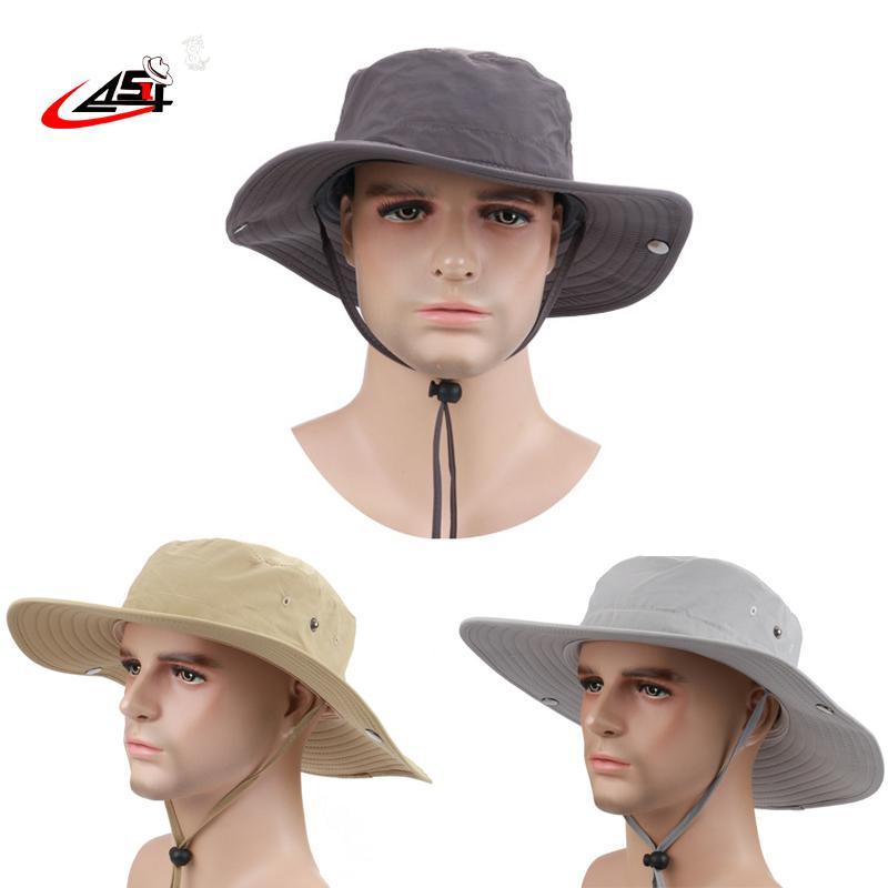 2018 Fisherman Hats Womens Wide Brim Hat Waterproof Brand Cowboy Hat for Men  Outdoors Bucket Hat Panama Male Caps Bob Panama Hats Waterproof Caps  Outdoors ... f897976c2c04