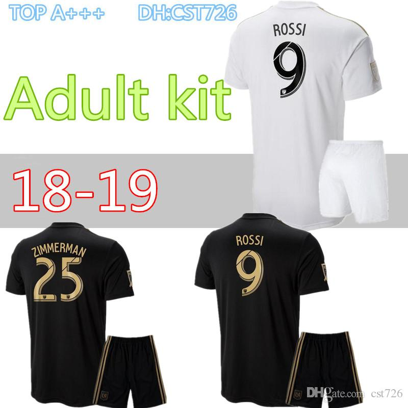 56b76a3fb31 2019 Adult Kits 18 19 Los Angeles Fc Carlos Vela LAFC Soccer Jerseys Kits  2018 2019 GABER ROSSI CIMAN ZIMMERMAN Football Shirt From Cst726