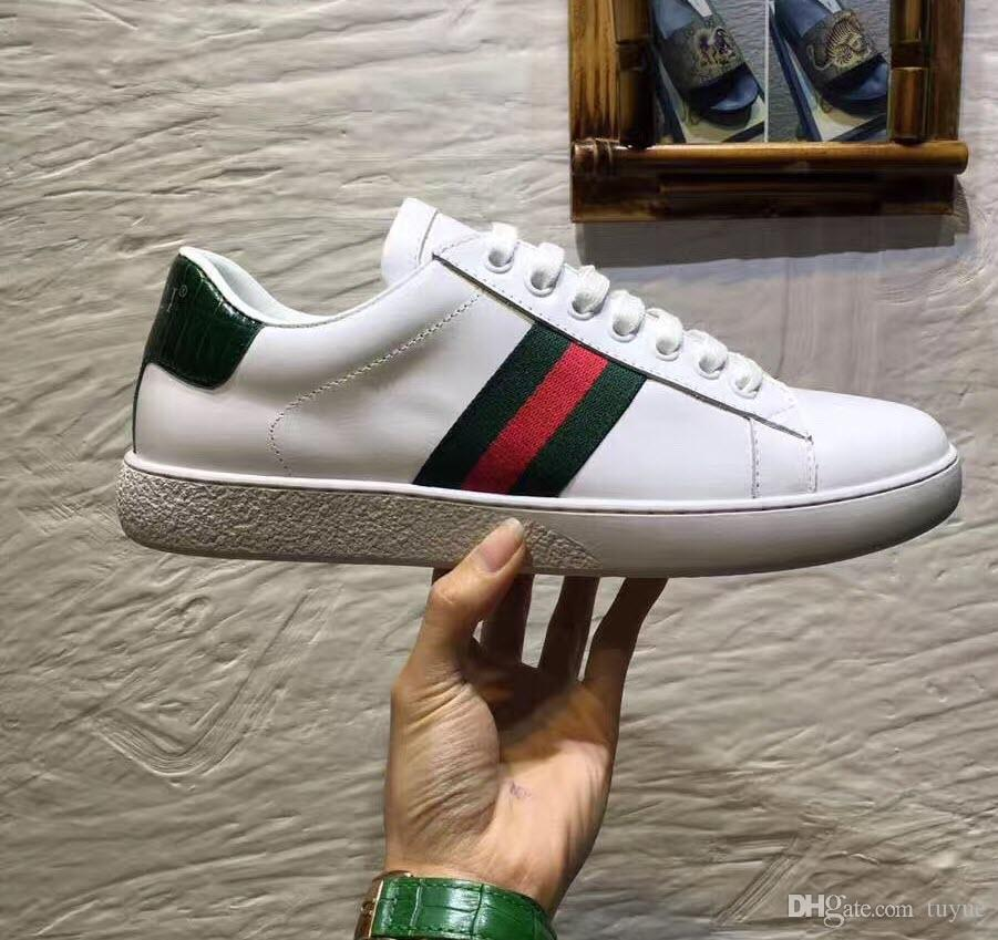 65e4da3604c1 Fashion Designer Brand Casual Ace Shoes Green Blue Red Stripe Bee Sneaker  Unisex For Men Women Size 34 46 Formal Shoes Shoe Shops From Tuyue, ...