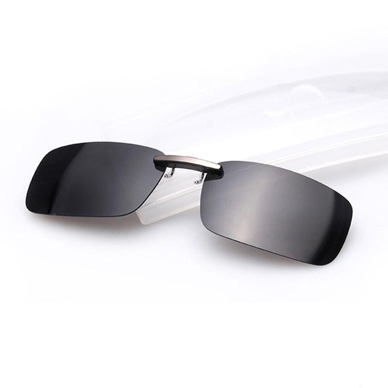 7987af443aa Polarized Clip On Sunglasses Men Driving Night Vision Lens Sun ...