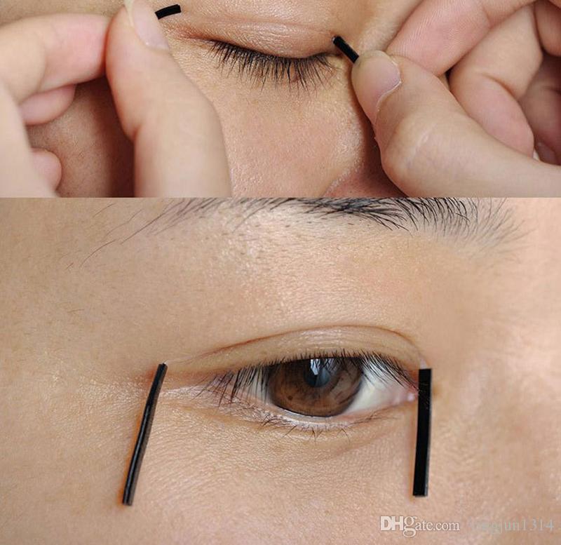 Toptan 120 adet Fiber Görünmez Gözkapağı Macun Çift Göz Kapağı Bant Stiker Gözkapağı Araçları Kızlar Kadınlar Lady Kozmetik Makyaj Aracı