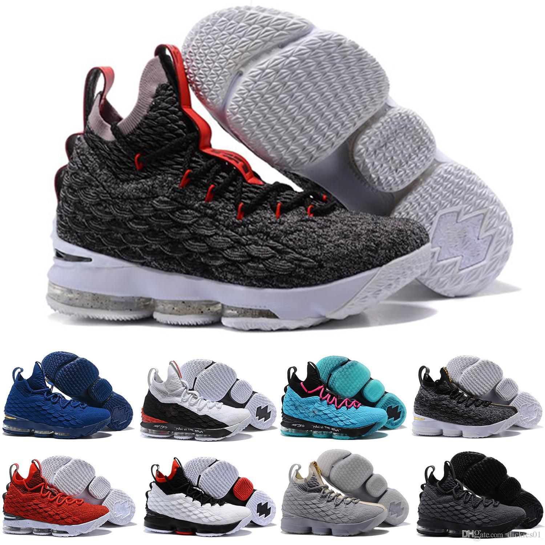 new styles 2b7db cbf6d Großhandel Nike LeBron 15 LBJ15 2018 Neue Ankunft Designer Schuhe 15  GLEICHHEIT Schwarz Weiß Basketball Schuhe Für Männer 15 S EP Sport Training  Turnschuhe ...
