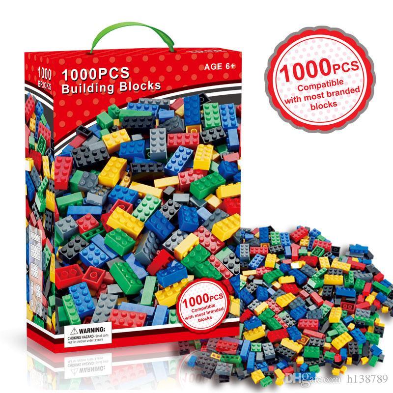 1000 stücke blöcke bausteine diy legoings stadt kreative ziegel spielzeug modell pädagogisches groß spielzeug für kinder geburtstagsgeschenk