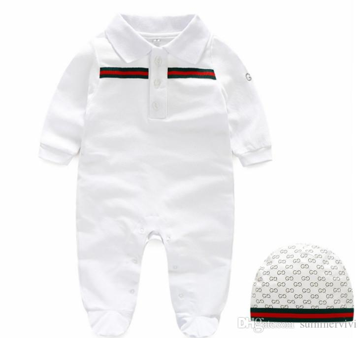 d3efd5c2b 2019 Autumn Baby Boys Rompers Designer Kids Stripes Lapel Long ...