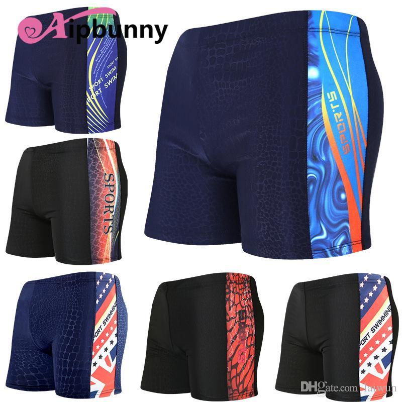 20055004e1 Trunks Sheer Board Surfing Shorts Boxer Boys Printed Swimsuit Mens ...