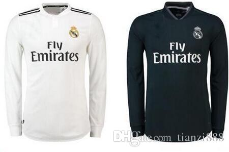 80057bab3 18 19 Real Madrid Player Version Long Sleeve Champions League Soccer ...