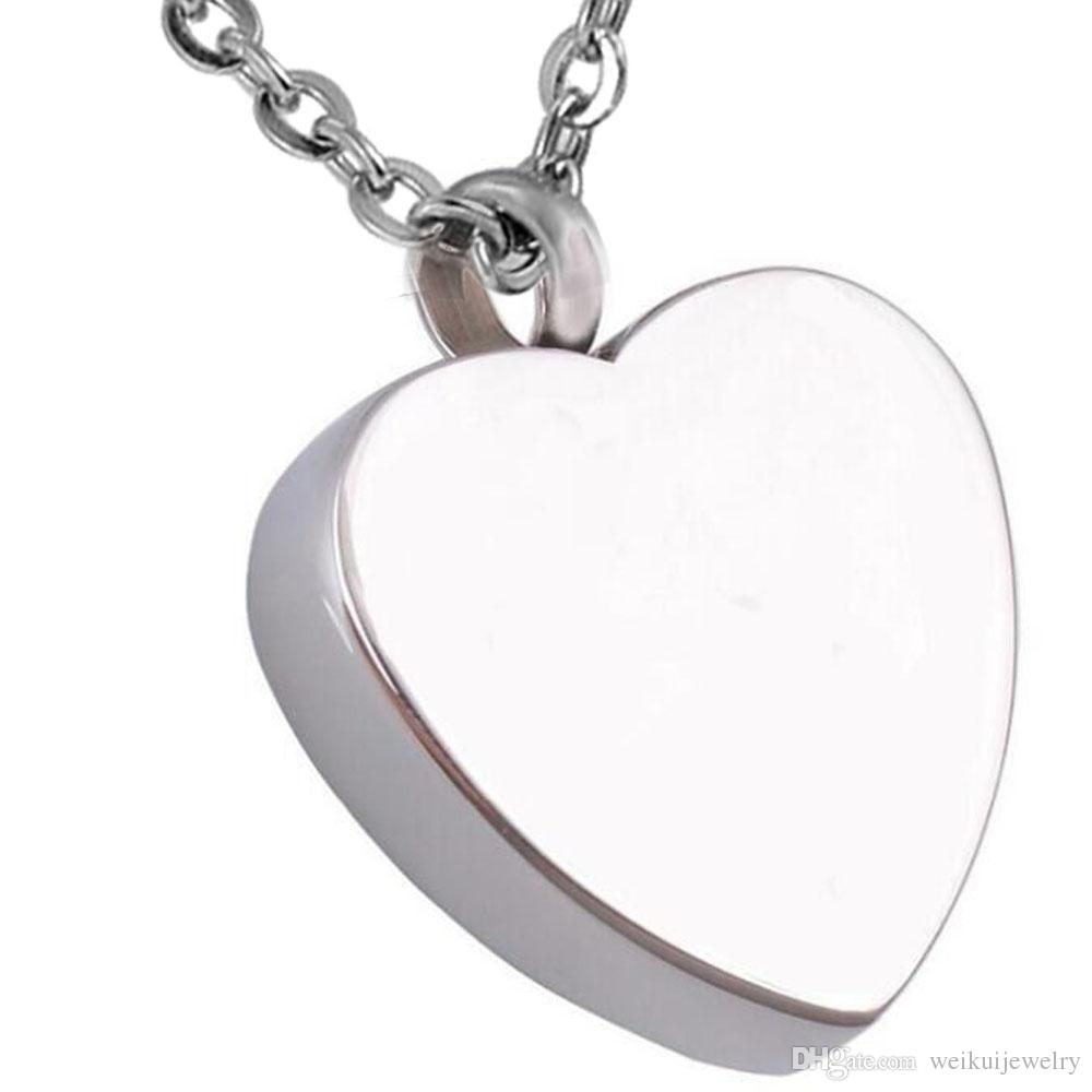 Wholesale funeral and burial jewelry engraved text my uncle heart-shaped perfume bottle cremation stainless steel memorial love necklace