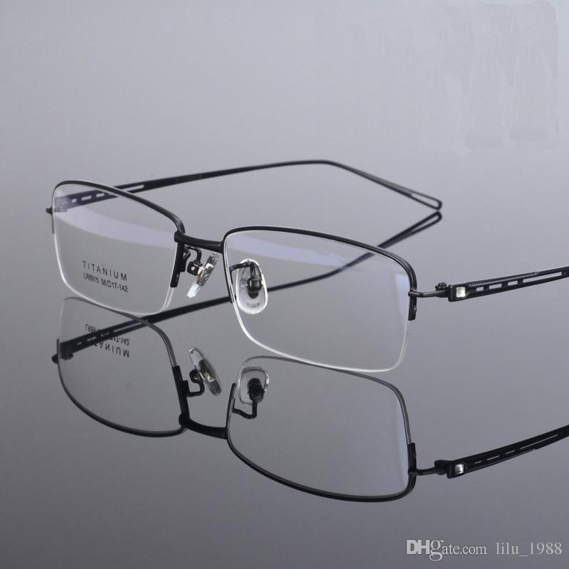 3e41dac96801 Men Eyeglass Frames Titanium Half Rimless Spectacle Frames LB-8915 Optical  Frames Glasses Frames Eyewear Frames Online with $40.72/Piece on  Lilu_1988's ...