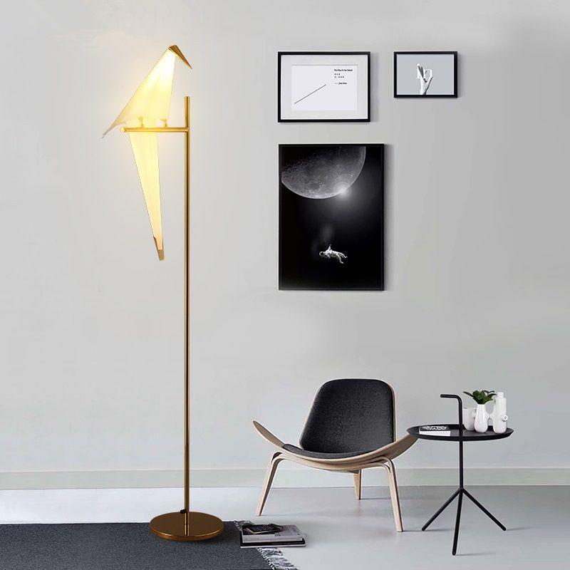 Großhandel Moderne Led Wohnzimmer Stehleuchten Nordic Vogel Lichter ...