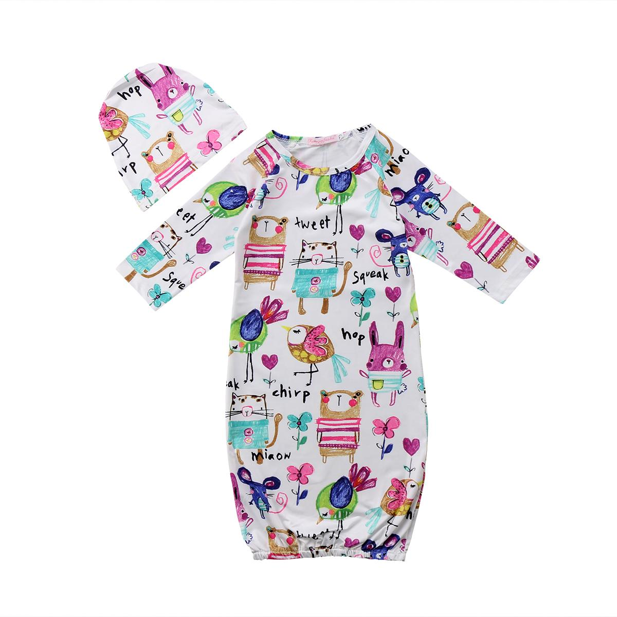 Baby Sleeping Bags Infant Baby Girl Boy Graffiti Print Nightgown ...