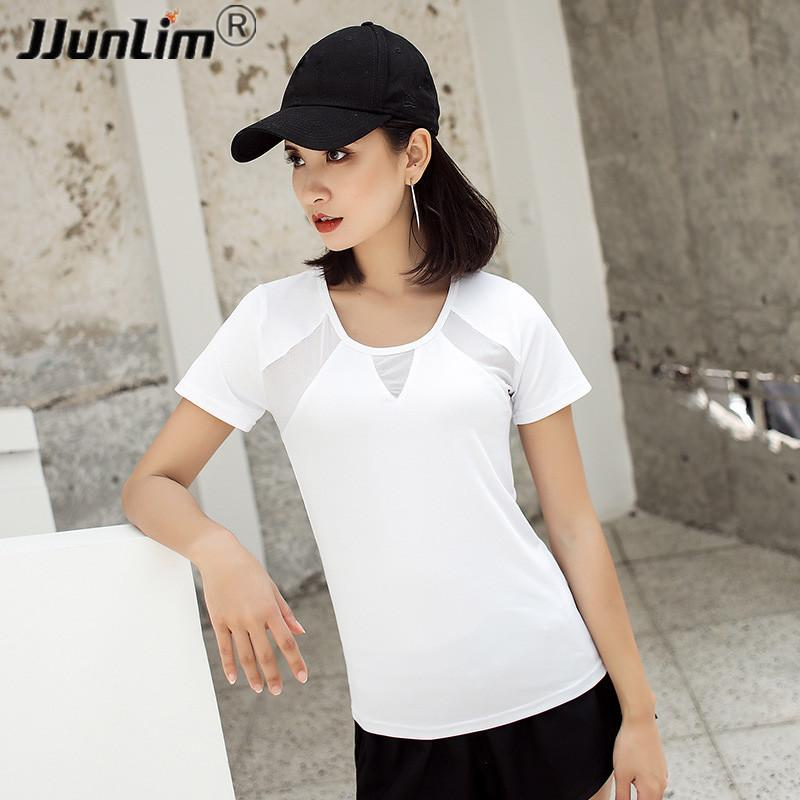 c62870a3 2019 Women Fitness Top Yoga Shirt Summer Loose Running Shirts Mesh Workout  Gym Shirt Quick Dry Women Sport Tank Top Fitness Clothing From Suipao, ...