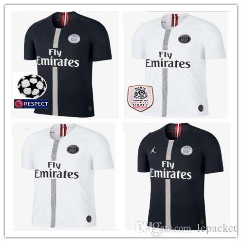 promo code e732f 5c7bd 2018 2019 psg jersey 7 mbappe black white champions league maillot de foot  2018 2019 Paris 9 CAVANI CHOUPO-MOTING third 3rd soccer shirts