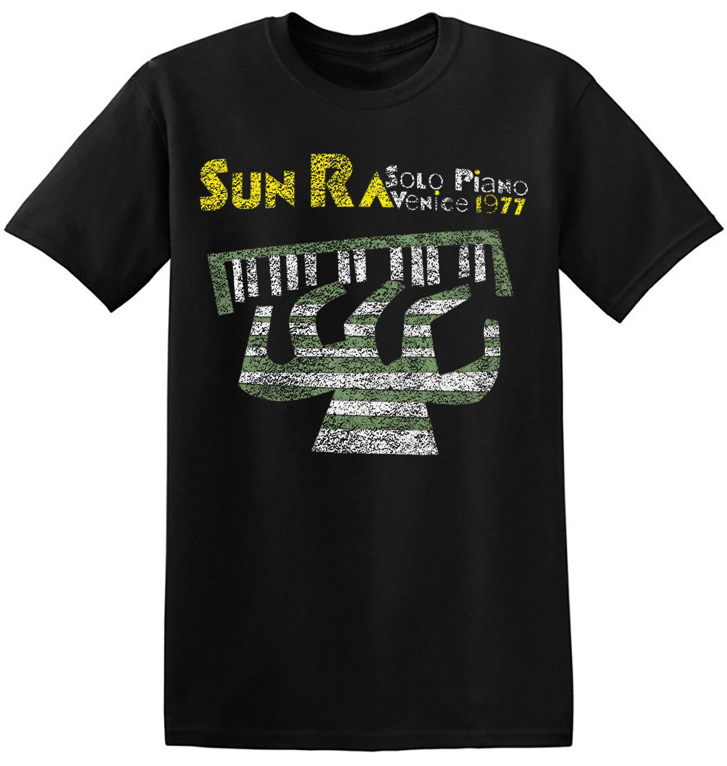 Sun Ra T Shirt Cool Retro Graphic Print New Black Jazz Music Band Tee  4-A-063 2018 funny tee 100% cotton cool lovely summer t-shirt