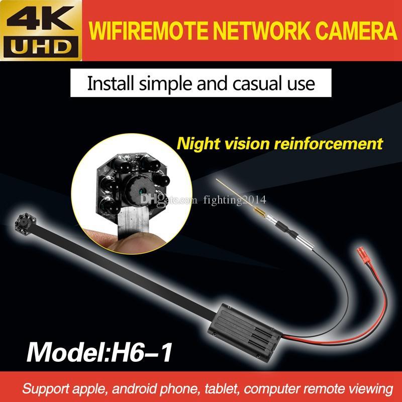 4K Ultra-HD IR Night Vision MINI Camera DIY Module P2P IP Camera wireless network module board Video Recorder home Security Camera