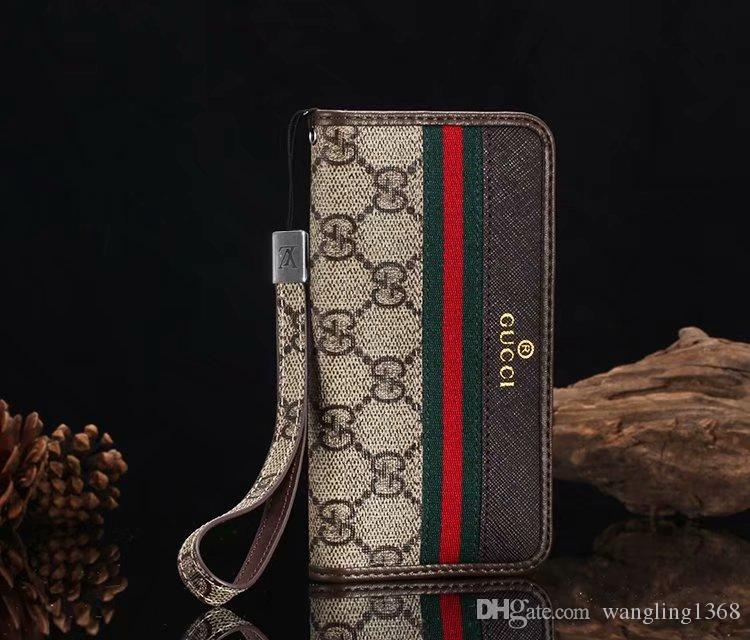 For Iphone X Xs Max Xr Luxury Designer Colorful Grid Wallet Leather