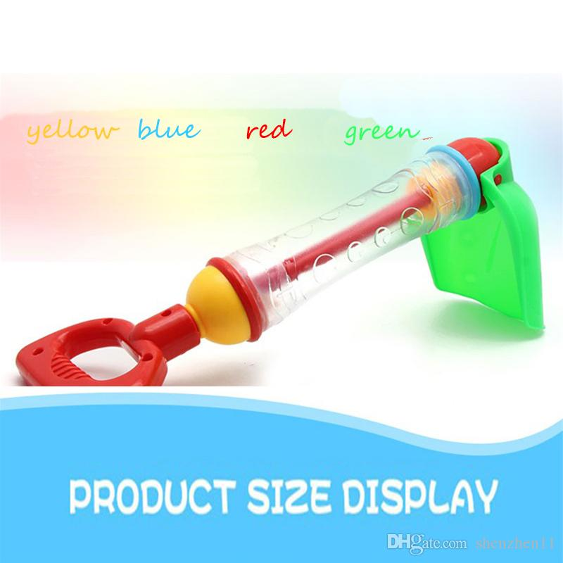 top 2 IN 1 Water Gun Sand Shovel Rake Bath Toy Outdoor Fun Water Blaster Toys Bath Tub Beach Toys for Kids oth619