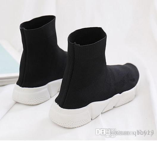 New Fashion Casual Mens Shoes Slip On Knitted Stretch Fabric Sock Booties Extended Sole Platforms Trainers Mens Sneaker Men's Shoes