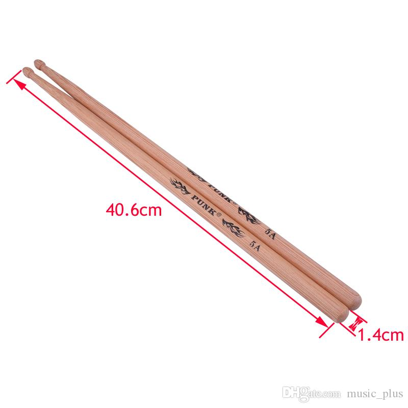 Tambor varas de madeira de madeira Tip pilões para Hickory 5A / 5B / 7A
