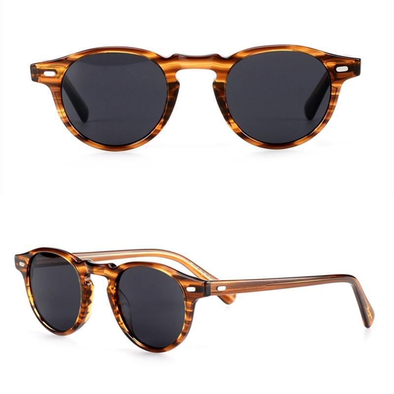 7c14bc507c Compre Visión Mejorada Material De Acetato Gafas De Sol Redondas Vintage  Ov5186 Gregory Peck Hombres Mujeres Polarizadas Gafas De Sol 100%  Protección UV400 ...