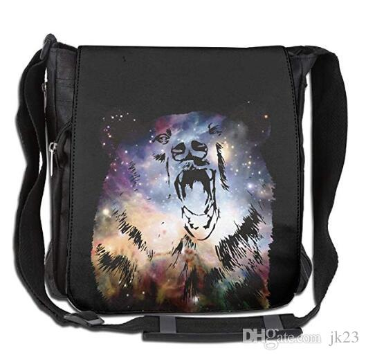 b325944c5d Crossbody Messenger Bag Roar Of Bear With Galaxy Shoulder Tote Sling ...