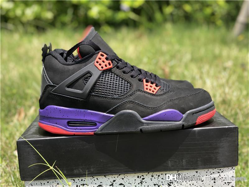 84df73b76ca2 Hottest 2018 Release 4 Drake NRG Raptors 4S IV Basketball Shoes For Men  Authentic Sneakers With Original Box AQ3816 056 Black Purple 40 47 Basketball  Shoe ...