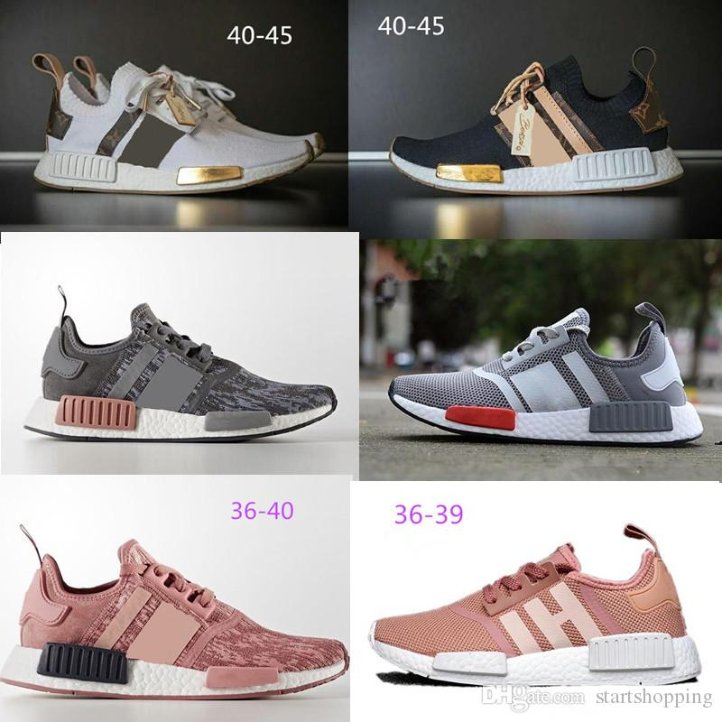 nmd r1 Wholesale Discount Cheap pink red gray NMD Runner R1 Primeknit PK Low Men's & Women's shoes Classic Fashion Sport track shoes