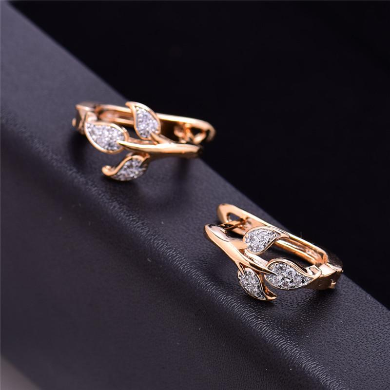 eb28155b7 2019 Earrings GULICX Brand Cute Tree Leaves Earring For Women Gold Color  Hoop Earing Crystal Cubic Zirconia Jewelry E256 From Ornaments_store, ...
