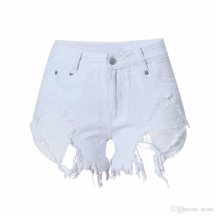2019 year lifestyle- Waisted high jean shorts designs