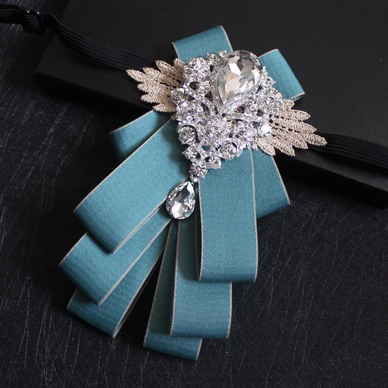 df94b5fd7929 Classic High-end Gentleman Bow Tie Temperament Light Blue Striped Collar  Flower Groomsmen Groom Dress Banquet Wedding Bow Tie Online with  $23.75/Piece on ...