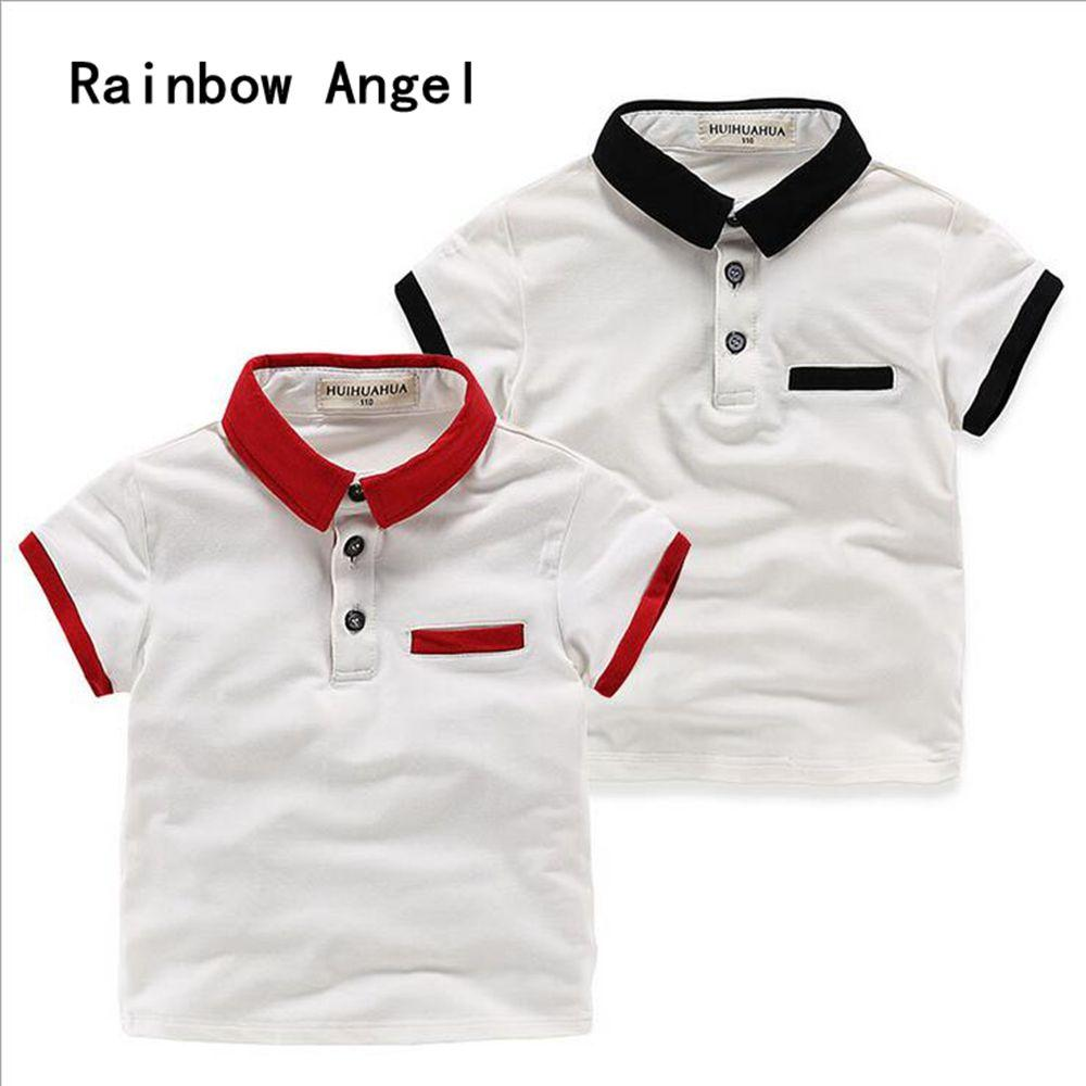 573a5a48 Summer Boys Short Sleeve Polo Shirt 100 %Cotton Kids Clothes Fashion  Printed Tee Tops Kids Boy Blouse Children Clothing 2 Colors