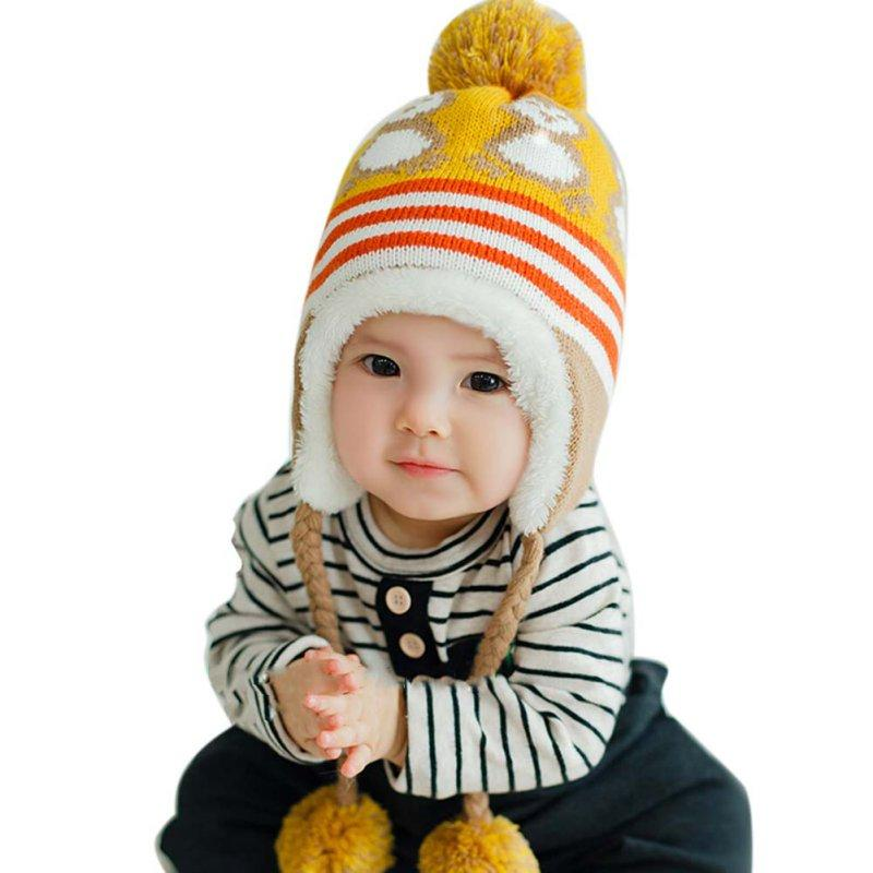 Compre Invierno Cálido Versión Coreana Lindo Bebé Sombrero Pingüino ...