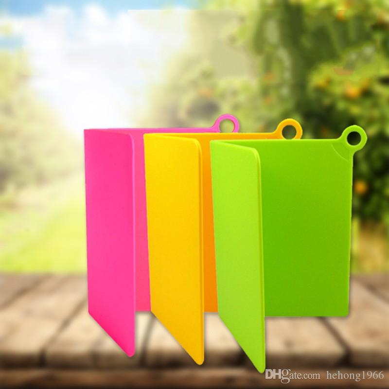 PP Plegable Chopping Block Carne de Frutas Vegetales Rectángulo de Cocina Placas de Corte de Plástico Práctico Colorido Antideslizante Herramientas de Cocina 6hd Y